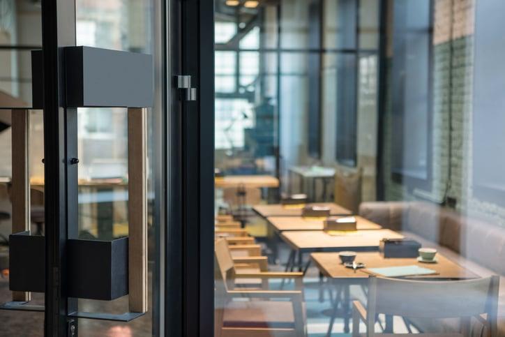 Commercial glass restaurant