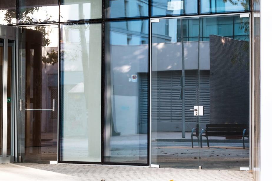 Laminated glass storefront window