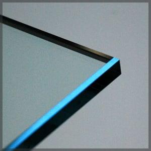 flat edge glass edgework