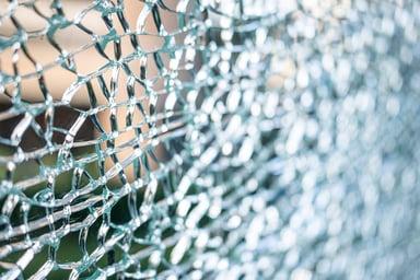 laminated glass broken